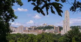 Outdoor view of Pittsburgh campus